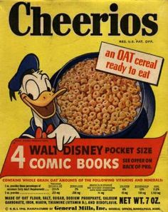 Cheerios in the My favorite cereal when I was little. But I swear mine had Yogi Bear on the box. Cheerios Cereal, Oat Cereal, Breakfast Cereal, Breakfast Time, Breakfast Recipes, Cereal Boxes, Retro Recipes, Vintage Recipes, Retro Ads