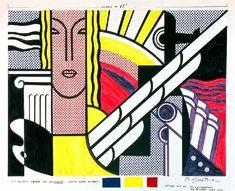 Roy Lichtenstein - Modern Tapestry Cartoon, 1967