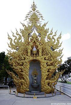 Wat Rong Khun golden structure Chiang Rai