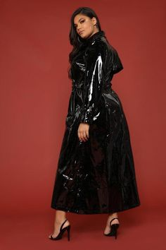 I Like Stunntin' Trench Jacket - Black Vinyl Raincoat, Pvc Raincoat, Raincoat Jacket, Plastic Raincoat, Trench Jacket, Hooded Raincoat, Imper Pvc, Black Raincoat, Langer Mantel