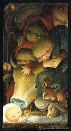Tarjeta de felicitación Navidad años 60 Ferrándiz