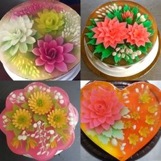 Art with Agar ❤️❤️❤️. Honestly, it is really hard for me to decide to eat them 😭. How about ya? How many you guys can make these amazing agar cakes? I am practicing and hope it's gone well lol. They are an amazing gifts for your beloved people 👍🏻  Advice from www.vietnamesefood.com.vn Vietnamese Pho, Vietnamese Recipes, Amazing Gifts, Really Hard, Agar, Nom Nom, Best Gifts, Advice, Cakes