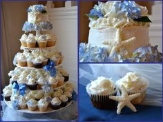 cupcake wedding cakes nautical   Live Smile Celebrate: Beach Theme Wedding