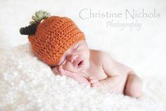 Pumpkin Baby Hat - Crochet Baby Beanie - Halloween Baby Hat - Pumpkin Baby Beanie - Autumn Baby Hat on Etsy, $15.00