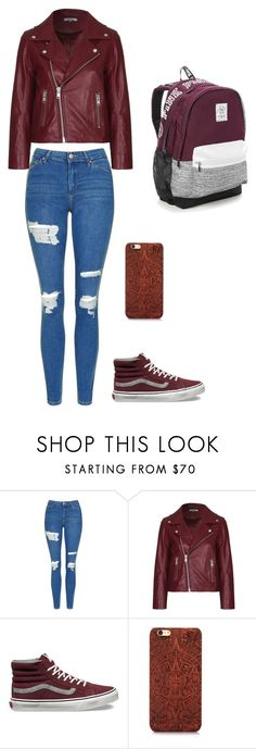 """""""# Another simple school outfit"""" by alondra-lemus909 ❤ liked on Polyvore featuring Topshop, Ganni, Vans and Victoria's Secret"""