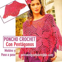 como tejer poncho crochet Crochet Shawl, Crochet Top, Clothes, Women, Capes, Videos, Google, Fashion, Tuto Tricot
