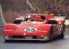 up close & personal Rolf Stommelen, Autodelta Alfa Romeo T33/3, BOAC 1000km, Brands Hatch