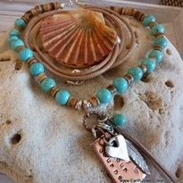 turquoise gemstone crystal personal power necklace handmade noosa