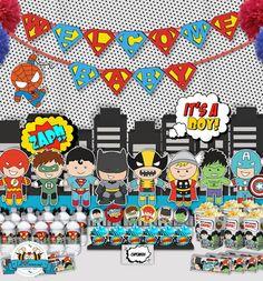 Cute Superherp Baby shower decorations