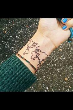 Wrist map tattoo