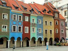 colorful Poznan, Poland