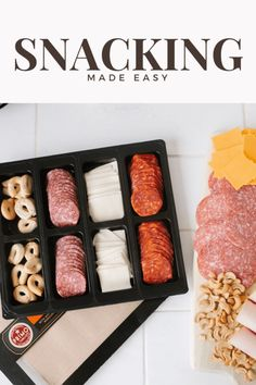AD: Easy snacking for the whole family or a gathering or get together. Prime taglio from Albertsons. Delicious, quality meats and cheeses easy to put together on a charcuterie board or serve a pre made platter! @albertsons #PrimoTaglio