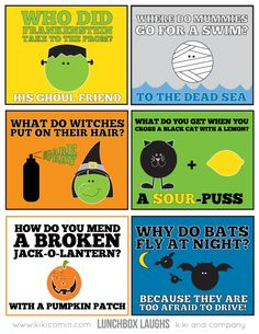 LUNCHBOX LAUGHS-HALLOWEEN.. free download from kiki and company