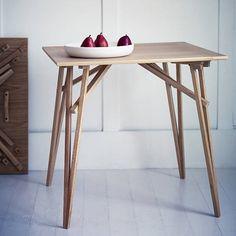 gable folding trestle table by rowen & wren | notonthehighstreet.com