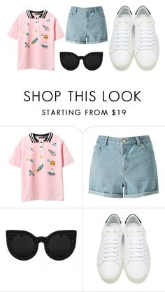 """Untitled #56"" by tarkant ❤ liked on Polyvore featuring Miss Selfridge, Delalle and Yves Saint Laurent"