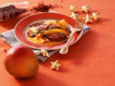 Découvrez la recette Foie gras poêlé aux mangues sur cuisineactuelle.fr.