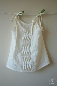 Summer Breezes Top - origami pleating
