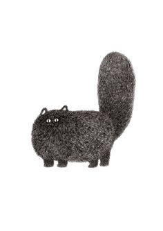 Katze Print  das pelzige Ding-Serie  Kitty Nr. 2 A4