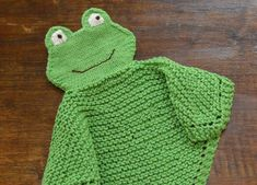 PDF Knitting Pattern FROG  Security blanket lovey     by CTHdesign