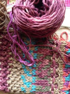 Knitting with Harvest Wool by Timber and Twine