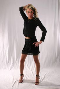 Gothic Skirt~Gothic Black Velvet & Lace Mini Skirt with Lace-up Front~By Folio Gothic Hippy~1345