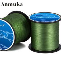 Anmuka marca hailongnv serie 500 m pe multifilamento trenzada línea de pesca 4 hebras cuerda trenza de hilos 8 a 80lb