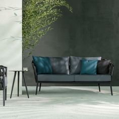Buy Vincent Sheppard Leo Sofa 2 Seater Sofa Lava Aluminium Acrylic Rope With Seat Back Cushions online with Houseology's Price Promise. Full Vincent Sheppard collection with UK & International shipping. Outdoor Sofa, Outdoor Living, Outdoor Decor, Sofa Design, Sofas, Outdoor Furniture Design, Retro Stil, 2 Seater Sofa, Luxury Interior Design