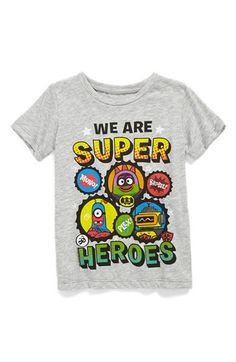 Yo Gabba Gabba T-shirt with Super Hero detachable Cape! Toddler Boy gift sold here!! Mighty Fine 'We Are Super Heroes' T-Shirt (Toddler Boys) available at #Nordstrom