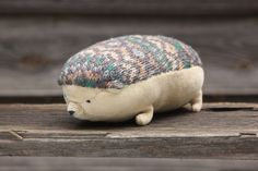 Hedgehog soft toy  Fat and funny plush toy woodland hedgehog  Materials - soft cotton fabric, recycled woolen fabric, hypo-allergenic polyester toy stuffing  hand embroidery.  Size - 7*8*18 cm...