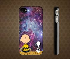 Snoopy and Charlie Brown Nebula iPhone 4 / 4S case iPhone 5 case Samsung Galaxy S2 case Samsung...