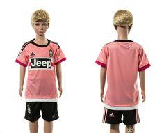 2016 Kid Juventus Away Pink Soccer Jerseys Uniform