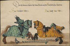 manuscripts of jousting | Turnierbuch. Ritterspiele gehalten von Kaiser Friedrich III. und ...
