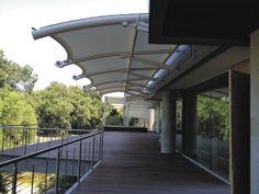 Structure tendue à arche / pour passerelle / pour marquise / pour espace public - ARCH-SUPPORTED TENSILE STRUCTURE - FabriTec Structures
