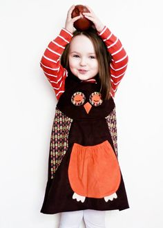 Owl girls play dress by wildthingsdresses on Etsy, $60.00