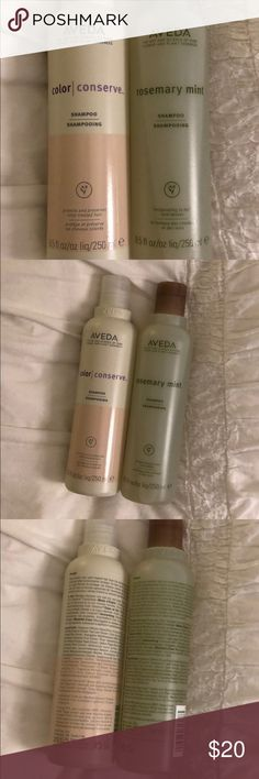 Aveda Rosemary Mint & Color Conserve Shampoos Aveda Rosemary Mint & Color Conserve Shampoos. 8.5 fl oz each. New, never used. Aveda Makeup Brushes & Tools