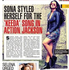Sonakshi Sinha styles herself from her personal collection.