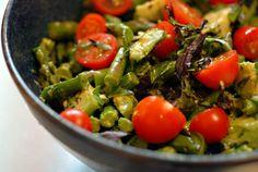 Asparagus Basil Salad @FoodBlogs