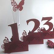 Свадебный салон ручной работы. Ярмарка Мастеров - ручная работа Номера на столы гостей. Handmade.
