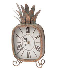 Loving this Pineapple Clock on #zulily! #zulilyfinds
