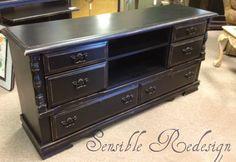 Dresser Morphs into TV Cabinet