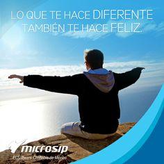 Lo que te hace diferente también te hace feliz.