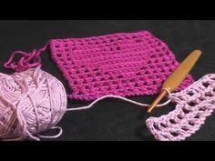 How To Filet Crochet Video Tutorial Crochet Squares, Crochet Blanket Patterns, Crochet Motif, Easy Crochet, Crochet Stitches, Knit Crochet, Graph Crochet, Crochet Hearts, Afghan Crochet