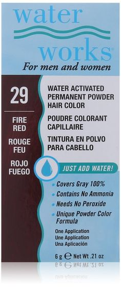 Waterworks Permanent Powder Hair Color -29 Fire Red * Check out this great product.