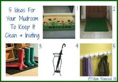 5 entryway and mudroom ideas to keep the space clean despite weather, and also inviting for guests and those who live in the home, alike {on Stain Removal 101}