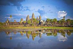 Templet Angkor Wat i Cambodia