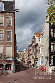 Streets of Amsterdam, corner of Berenstraat and Keizersgracht, Holland, Netherlands.