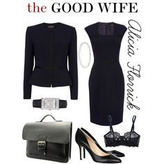 The Good Wife: Alicia Florrick's Style by oliver-stark on Polyvore featuring Elle Macpherson Intimates, Jimmy Choo and Jaeger-LeCoultre