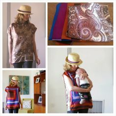 Repurposed silk scarf top