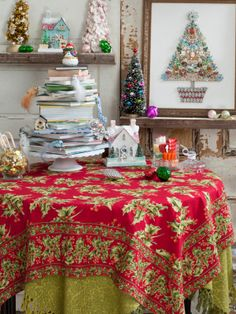 Holly Tablecloth | Table Linens U0026 Kitchen, Tablecloths :Beautiful Designs  By April Cornell
