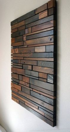 Unique Wooden Wall Decor Art Ideas For Your Home The paneled wall is strikingly bold and I like the additional dimension it increases the space. As a boring or empty wall is similar to a canvas which… Unique Wooden Wall Decor Art Ideas For Your Home Wooden Wall Decor, Wooden Walls, Wall Art Decor, Wall Wood, Wall Murals, Wall Decorations, Reclaimed Wood Wall Art, Wall Décor, Rustic Wood